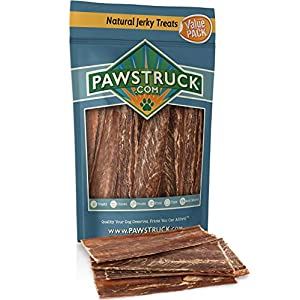 Joint Health Beef Jerky Dog Treat Chews – Gourmet, Fresh & Savory Beef Gullet Jerky – Naturally Rich in Glucosamine and Chondroitin – Promotes Healthy Joints and Tissue Growth (4-6″ (60 Pack))