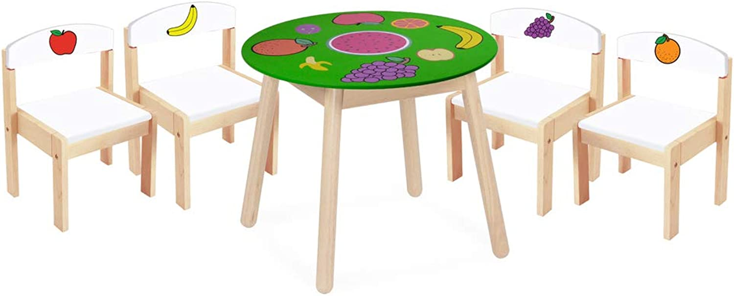 bluee Ribbon Fruit Table And Four Chairs