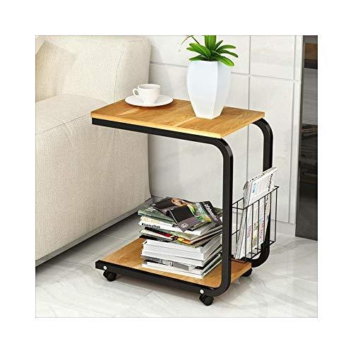 KXBYMX Table Pliante Simple Table de café Mobile Simple Table de Chevet Mini canapé Moderne (Couleur : Maple Color)