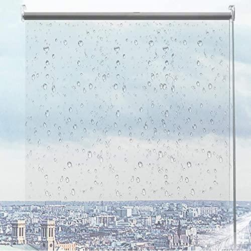 Jcnfa- Persianas Enrollables y Estores Impermeable el Plástico Transparente con Gancho Fijo,Resistente A la Lluvia Resistente Al Viento,0.5 mm de Espesor,60/80/100/120/140cm Ancho(Size:140×120cm)