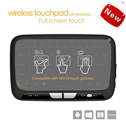Pocket 2.4Ghz Mini Wireless Tastatur Maus mit vollem Touchpad wiederaufladbar für Android / Google / Smart TV, Linux, Android TV Box, Windows PC, HTPC, IPTV, Himbeer Pi, XBOX 360, PS3, PS4
