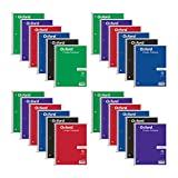 Oxford Spiral Notebooks, 1-Subject, College Ruled Paper, 70 Sheets, 24 per Pack, Colors May Vary (65021)