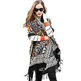 DANA XU 100% Pure Wool Women Winter Large Scarf Pashmina (Black)
