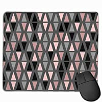 "Geometric Grey Blush And Coral Mouse Pad Non-Slip Rubber Gaming Mouse Pad Rectangle Mouse Pads for Computers Desktops Laptop 9.8"" x 11.8"""