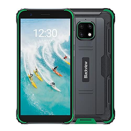Blackview BV4900 Pro Outdoor Smartphone ohne Vertrag 64GB (Android 10, 13MP+5MP Kamera, 5.580mAh, 5.7 Zoll HD+ Bildschirm, Dual SIM, NFC, OTG) IP68 Wasserdicht Handy Grün