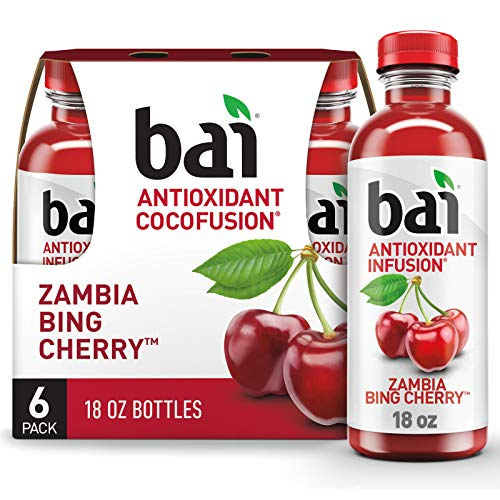 Bai Zambia Bing Cherry, 18 fl oz Bottles, 6 Pack