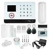 OWSOO 433MHz Sistema de Alarma GSM SMS, Pantalla LCD, Control Remoto de Phone APP, Alarma de Marcación Automática, con...