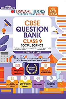 Oswaal CBSE Question Bank Class 9 Social Science (Reduced Syllabus) (For 2021 Exam) by [Oswaal Editorial Board]