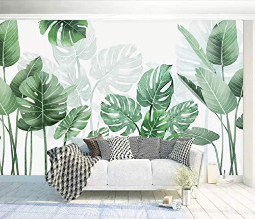 Papel Pintado Pared 3D Fotomurales Contemporáneo Acuarela Fondo Vegetal Simple Y Fresco Murales 3D Papel Tapiz Decorativos Moderno Wallpaper,400cmX280cm