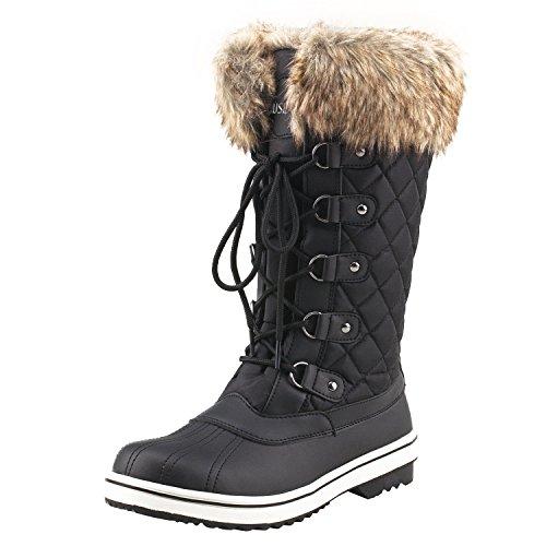 Shenji Bottes de Neige Femme Après Ski Boots Hiver...