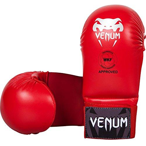Venum Fäustlinge ohne Daumen Schutz Karate Handschützer, Rot, L