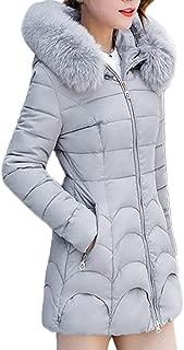 Big Sale! Limsea Women's Outwear Parka Coat Jacket Slim Thick Fur Collar Cotton Solid Color Hooded Warm