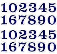 (シャシャン)XIAXIN 防水 PVC製 ナンバー 数字 ステッカー セット 耐候 耐水 数字 キャラクター ミニサイズ 表札 スーツケース ネームプレート ロッカー 屋内外 兼用 TSS-110 (2点, ブルーXシルバー)