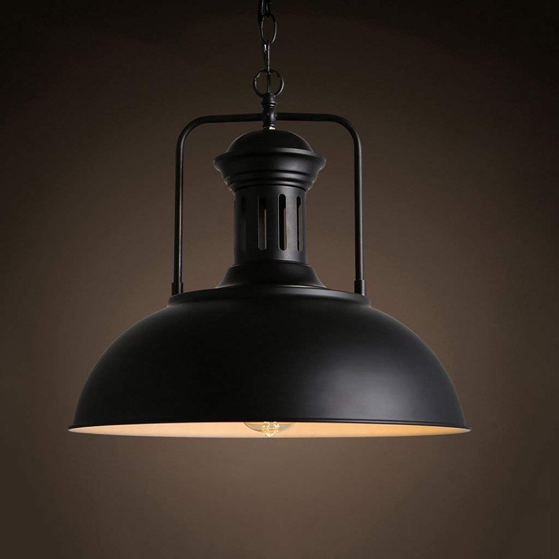 RBB Amerikanischer Art-Weinlese-Metallleuchter, Retro- Schwarze hngende Lichter, Stab-Gaststtte-dekorative Beleuchtung