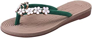 Women Girls Ladies Summer Flat Slippers Moccasins,Flower Flip Flops Open Toe Indoor Outdoor House Beach Sandals Women's sandals
