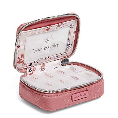 Vera Bradley Women's Performance Twill Travel Pill Case, Strawberry Ice, One Size