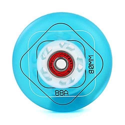 SSCYHT Inliner Rollen, 64 mm / 68 mm / 70 mm / 72 mm / 76 mm / 80 mm, 88A Härte, PU Ersatz Rollen, für Kinder, Jugendliche und Erwachsene,Blau,72mm