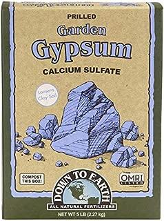 Down to Earth Organic Garden Gypsum Calcium Sulfate, 5 lb