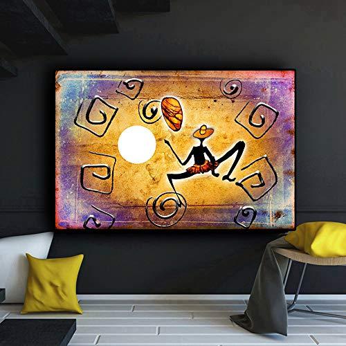 Caracteres africanos Abstractos Dorados_1000pcs_Wooden Puzzle_Juegos educativos para niños Adultos, Juguetes para aliviar el estrés, Juegos intelectuales_50x75cm