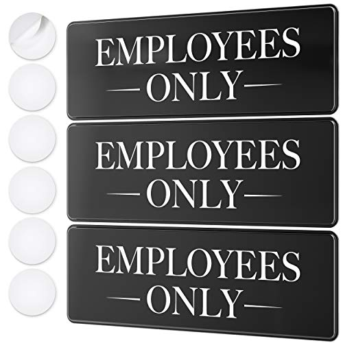 Employees Only Sign Kit - Ideal Employee / Staff Only Signs for Office, Business, Kitchen or Restroom Door - Ensures Public Do Not Enter Restricted Areas - Private Access / Authorized Personnel Only