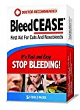 BleedCEASE First Aid, White, 5 Count