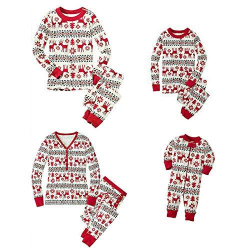 KUANDARM 2020 Neue Weihnachten Familie Pyjamas Passende Sets,Komfortable Weiche Winter Urlaub Pyjama Hose Set (Kid-5)