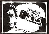 F1 Ayrton Senna Poster Plakat Handmade Graffiti Street Art