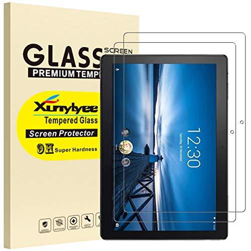 XunyLyee [2 Piezas] Protector de Pantalla Compatible Con Lenovo Tab M10 TB-X505F/TB-X605F, Cristal Templado Film para Lenovo Tab M10 HD 2019/2018 (10,1 Pulgadas)