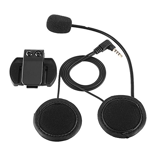 Keenso - Auriculares con micrófono y clip para motocicletas V4/V6 (Bluetooth), interfono