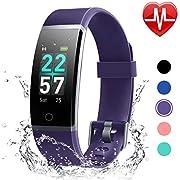 LETSCOM Unisex-Adult ID132C Fitness Tracker, Violett, M