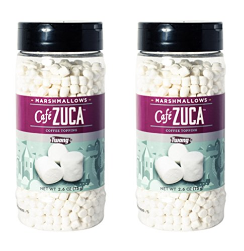 Twang Café Zuca Dehydrated Mini Marshmallows Coffee Topping 26oz  2 pack