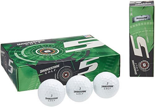 BRIDGESTONE Golfball E5 Web Dimple Technologie, White, M, 1b5e5