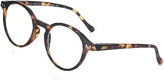 ZENOTTIC Blue Light Blocking Reading Glasses Classic Round Lightweight Frame Eyeglasses for Men and Women,for Computer Reading/Gaming/TV/Phones
