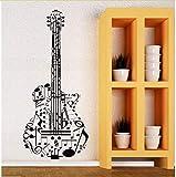 Hlonl Vinilo Adhesivo De Pared GuitarraVinilo Instrumentos Musicales Pegatinas Home Art Mural Calidad Perfecta Etiqueta De La Guitarra 42 * 97 Cm