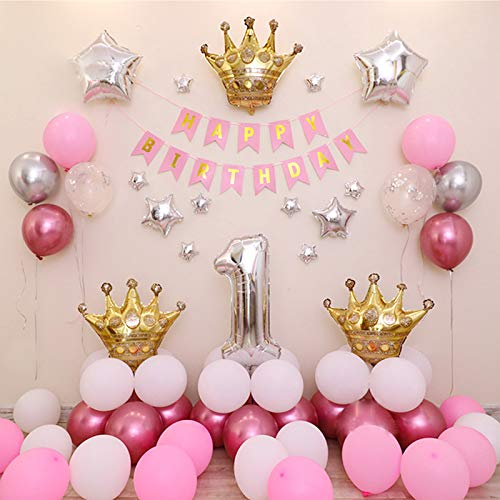 Birthday Party Decorations for Girls Rose Gold Balloons adult Party Supplies for Girls Include Happy Birthday Banner Rose Gold Tassel Garland Gold Sequins Balloons ect