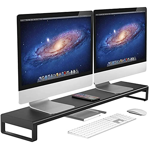 VAYDEER Soporte Monitor Doble, Aluminio Soporte Monitor Mesa, Admite para...