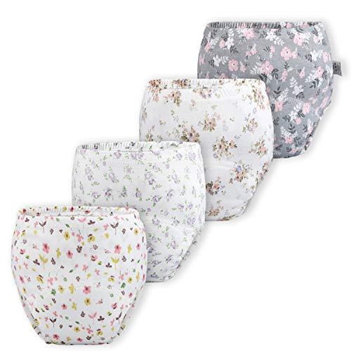 Baby Mädchen Trainerhosen Unterwäsche Windelhose Töpfchen Floral, Mädchen, 4er Pack, 1T (Herstellergröße- 80)