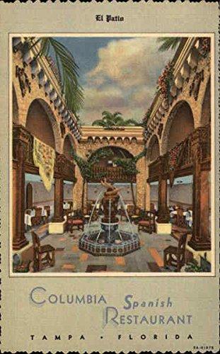 El Patio, Columbia Spanish Restaurant Tampa, Florida FL Original Vintage Postcard
