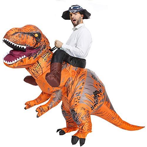 Aufblasbares Dinosaurier Kostüm für Erwachsene T-Rex Kostüm Halloween Blow Up Kostüm Fancy Dinosaurier Rider Kostüm