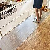 キッチンマット 床保護マット フロアマット 大判サイズ270X60cm 厚さ1.5mm 傷や汚れからカンタン保護 PVCキッチンマット カットOK 床暖房対応 滑り止め 拭き取り可能 台所マット キッチン透明マット 床保護 キズ防止