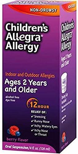 Allegra Children's 12-Hour Allergy 5 ☆ popular Relief Dallas Mall Liquid ct. 4 3 oz.