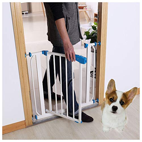 Baby Gate Best Pet Gate Extra Tall Pressure Indicator Safety Gate (White) Fits Openings 71cm - 78cm Baby Safety Gate, Metal Dog Gate, with One-Hand Operation for House, Stairs