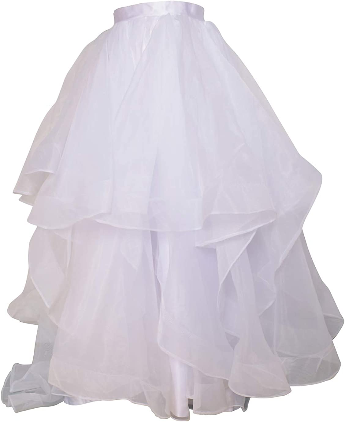 flowerry Women Maxi Bridal Skirt Wedding Skirt With Train Party Prom Skirt