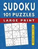 101 Sudoku Puzzles Easy to Hard: Large Print Sudoku Books for Adults (Large Print Brain Games)
