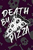 """Death by Pizza: Melting Cheesy Pepperoni Skulls White and Black 6"""" x 9"""" Journal for Alternative Art Freaks"""
