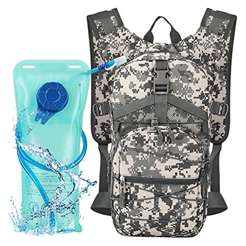 Aytop Mochila de Hidratación con Vejiga de Agua Libre de BPA, Mochila de Agua para Senderismo, Ciclismo, Camping, Ciclismo o Correr