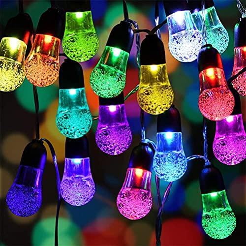 Holmeey Outdoor Solar String Lights, 30LED Bubble Globe Solar Lights Waterproof String Lights, Crystal Ball Lighting, LED Lighting for Garden, Trees