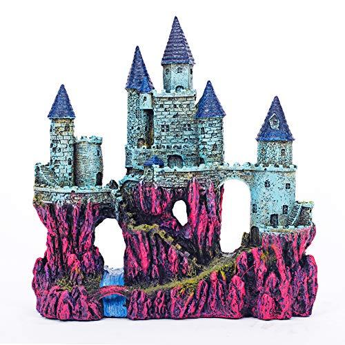 Miracliy Aquarium Decorations Castle, Aquarium Ornament Super Castle,10'