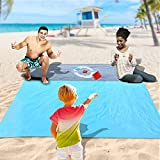 PELLOR Alfombra de Playa, Manta de Picnic Impermeable Alfombra de Camping,200x210cm Manta de Playa con 4 Clavos Fijos,Actividad Camping Accesorios Alfombra de Picnic para la Playa Picnic