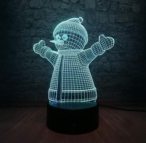 Fczka Novela 3D LED Lovely Snowman Decor Night Light